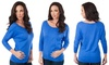 Women's Long-Sleeved Boat Neck Top (Size S)
