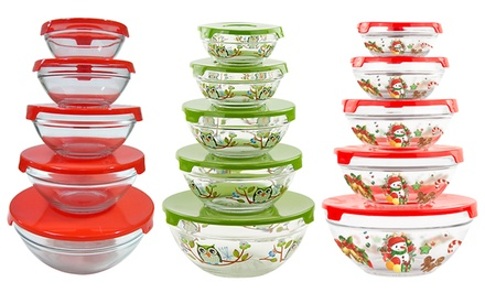 5-Piece Glass Storage Bowl Set with Lids