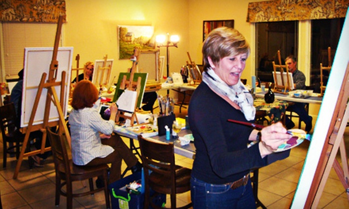 Café Elie - Cornelius: Two-Hour Introductory Acrylic- and Oil-Painting Class for One or Two at Café Elie (56% Off)