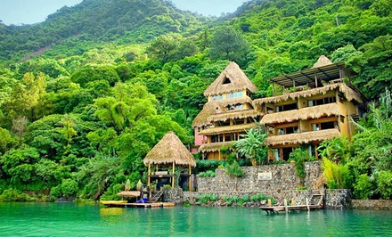 3- or 4-Night Stay for Two with a Bottle of Wine at Laguna Lodge Eco-Resort & Nature Reserve in Guatemala