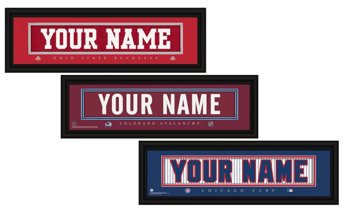 Prints That Rock: One Personalized Nameplate with Standard or Premium Frame from Prints That Rock (Up to 44% Off)