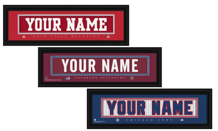 One Personalized Nameplate with Standard or Premium Frame from Prints That Rock (Up to 44% Off)