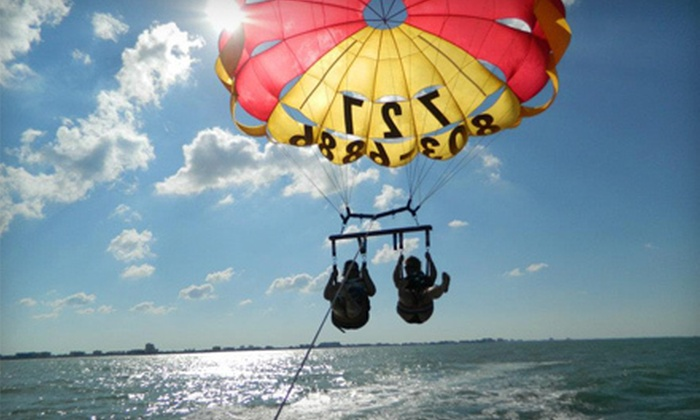 Sky Pirate Parasail - Treasure Island: $45 for a Super Parasail Flight from Sky Pirate Parasail ($90 Value)