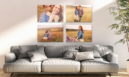 One, Two, Three or Four Personalised A2 Canvases from £7.99 (Up to 88% Off)