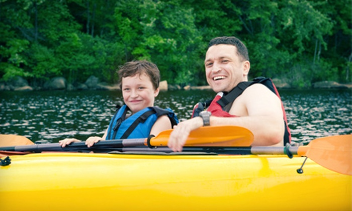 Live Adventure - Cedar Hill State Park: Two-Hour Single- or Double-Kayak Rental from Live Adventure (Up to 52% Off)