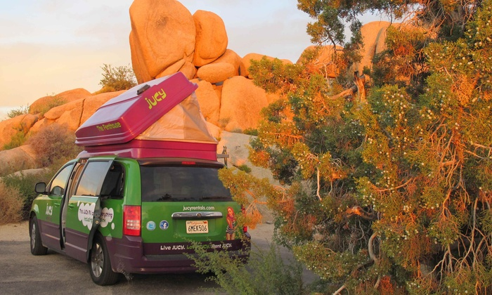 Jucy Rentals - Multiple Locations: Seven-Night Campervan Rental with Unlimited Miles from Jucy Rentals (50% Off)