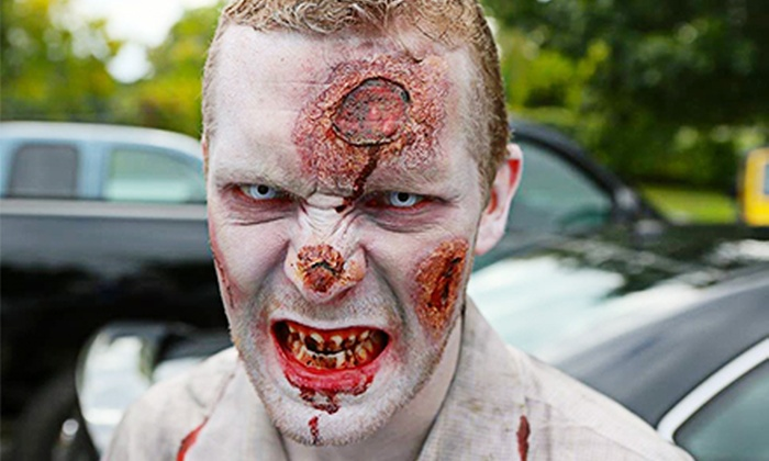 Zombie Outbreak Oct. 24th in Manchester - Thurston: Zombie Outbreak Block Party for 1, 2, 5, 10, or 25 on October 24 at 5 p.m. (Up to 86% Off)