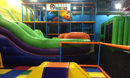 Two, Four, or Six Combo Play Sessions, or a Family Pack 2 at Laser Jump (Up to 57% Off)