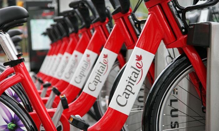 Capital BIXI: $40 for One-Year Bike-Rental Membership at Capital BIXI ($80.50 Value)