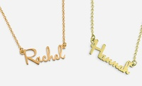 GROUPON: Personalized Mini Name Necklace in Sterling Silver Monogram Online