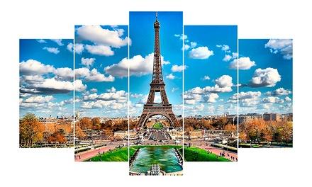 Vale de desconto de 120€ em tela de cinco peças personalizada com foto por 10€
