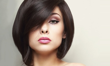 Haircut with Conditioning, Full Color, or Highlights from Karin Petersen at La Renaissance Salon (Up to 71% Off)
