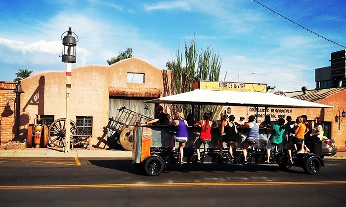 Tour De Tavern - Downtown Scottsdale: $27 for One Seat on a Pedaling Tour of Old Scottsdale from Tour De Tavern ($50 Value)