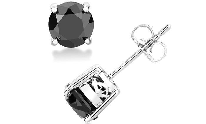 10 Off 2 00 Cttw Black Diamond Studs