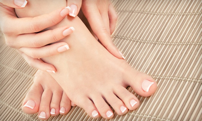 Club Ronaldo Hair & Spa - Calgary: $32 for a Classic Mani-Pedi at Club Ronaldo Hair & Spa ($90 Value)