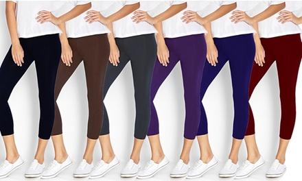 Women's Capri Leggings (6-Pack)