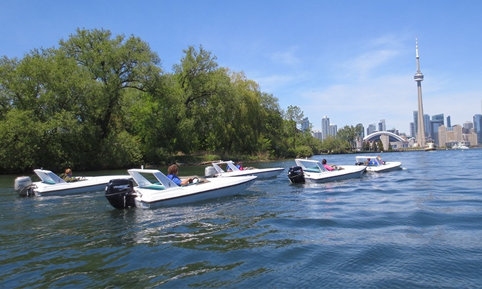 Harbourfront Centre Sailing & Powerboating - Toronto: C$69 for a 90-Minute F13 Mini Power Boat Rental from Harbourfront Centre Sailing & Powerboating (C$103.50 Value)