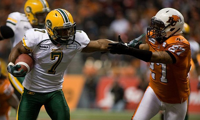 Edmonton Eskimos - McCauley: One G-Pass to See Edmonton Eskimos Game Against BC Lions on June 21 (Up to 52% Off). Two Options Available.
