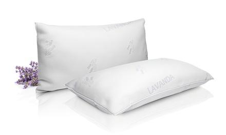 Pack de 2 o 4 almohadas viscocopos flor de lavanda extra confort