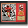Jerry Rice Framed Photo and Trading Card