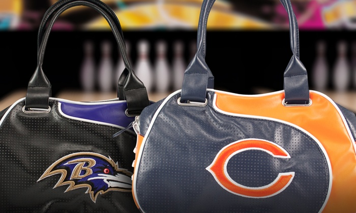 NFL Women's Perforated Perfect Bowler Bags: NFL Women's Perforated Perfect Bowler Bags. Multiple Teams Available.