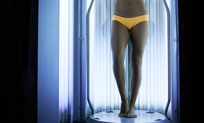 image for Airbrush-Tan Cocktail, or 3 or 5 Sessions in a <strong>Tanning</strong> Bed at Cali Tan (Up to 82% Off)