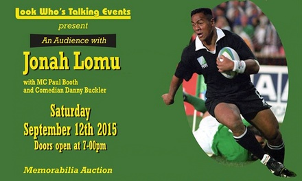 An Audience With Jonah Lomu at The Deco Theatre, 12 September (Up to 38% Off)