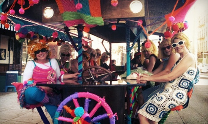 Pedal Wagon - Columbus: 6- or 15-Person Party-Bike Bar Crawl from Pedal Wagon (Up to 56% Off)