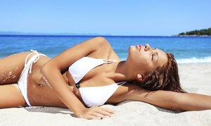 Beaches Tanning - Sandy Location: Three Mystic Spray Tans or One Week of Tanning with One Mystic Spray Tan at Beaches Tanning (Up to 92% Off)