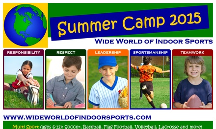 Up to 60% Off Sports Camp for 1 or 2 children at Wide World of Indoor Sports - North Kingstown