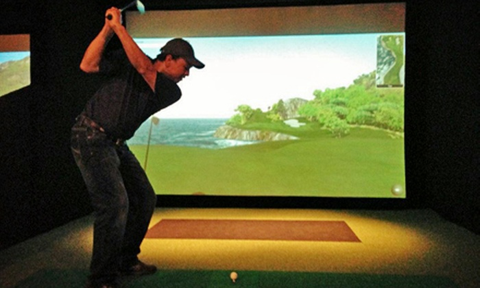 Golf Studio - Pomona: Round of Indoor Simulator Golf for One, Two, Three, or Four at Golf Studio (Up to 65% Off)