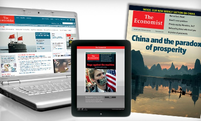 """""""The Economist"""" - Kitchener - Waterloo: $79 CAN for 51 Issues of the """"Economist"""" ($137.19 CAN Value)"""