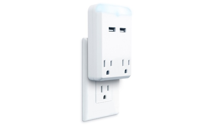 Merkury innovations 1 or 2 outlet usb wall charger with night merkury innovations 1 or 2 outlet usb wall charging station with night light mozeypictures Image collections