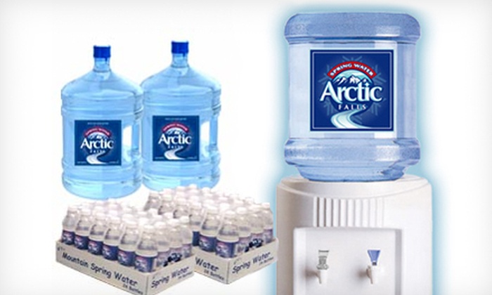 Arctic Falls - Cedar Grove: $59 for a Six-Month Family Four-Pack Bottled-Water Delivery Plan from Arctic Falls ($143.94 Value)