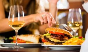 ALBERGHETT PUB: Menu hamburger con dolce e calice di vino per 2 o 4 persone da Alberghett Pub (sconto fino a 70%)