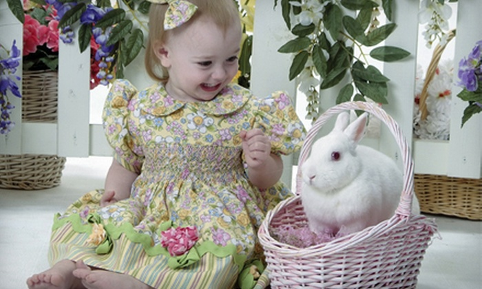 Life Shots Photography - North Richland Hills: $ 20 for a Spring Photo Shoot for Up to Two Children with Live Bunnies and Prints at Life Shots Photography ($ 45 Value)