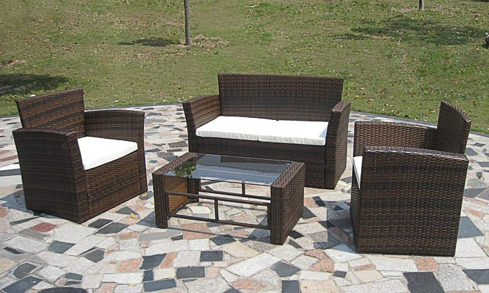 Rattan-Gartenmöbel-Set | Groupon Goods