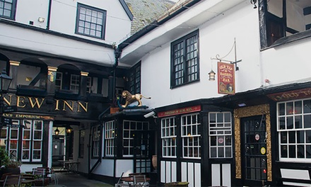 Gloucester: Double Room for Two with Breakfast and Option on Dinner at the The New Inn Hotel