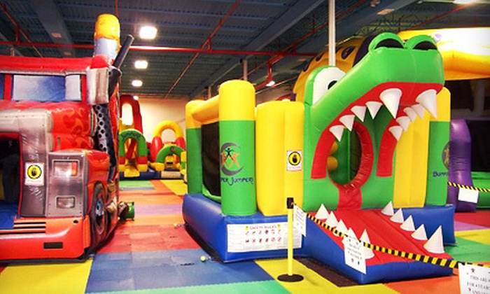 Bumper Jumpers Indoor Playground - Greensboro: Three or Six Open-Play Visits to Bumper Jumpers Indoor Playground (Up to 67% Off)