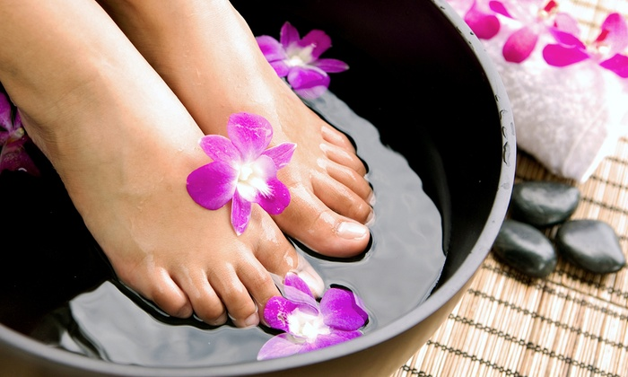 Christina Sanborn at Capri Salon & Spa - Capri Salon & Spa: Sculpted Nails and Fill or Shellac Manicure and Spa Pedicure from Christina Sanborn at Capri Salon & Spa (Up to 51% Off)