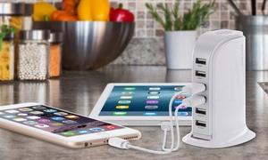 Aduro PowerUp 40-Watt 6-Port USB Charging Station at Aduro PowerUp 40-Watt 6-Port USB Charging Station, plus 6.0% Cash Back from Ebates.