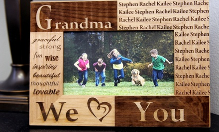 One or Two Custom Laser-Engraved Photo Frames from American Laser Crafts (Up to 51% Off)