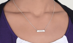 Monogram Online: Mini Bar Name Necklace in Silver or Gold over Silver from Monogram Online (Up to 73% Off)
