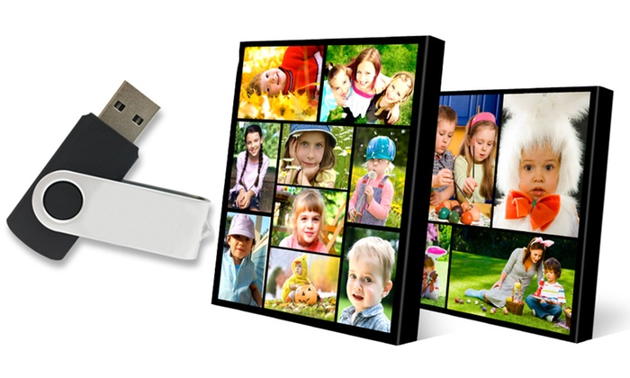 GalleryCollage.com: Canvas Collage Photo Prints with USB Photo Drive from GalleryCollage.com (Up to 80% Off). Two Options Available.