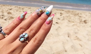 Orange Coast Nail & Beauty: Sweet Manicure and Optional Sweet Pedicure or Japanese Gel Nails at Orange Coast Nail & Beauty (Up to 54% Off)