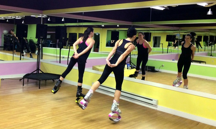 Kangoo Club Joy Fit - Joy Fit Bounce Club: One 5-, or 10-Class Pass Package with Shoes at Joy Fit Bounce Club (Up to 58% Off)