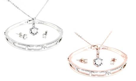 Set de colgante, pendientes y pulsera - hecho con cristales Swarovski®