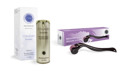 ORA Face Microneedle Dermal Roller and Collagen Booster Set