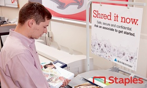 Staples – Up to 49% Off Shredding Services at Staples, plus Up to 6.0% Cash Back from Ebates.