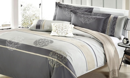 7-Piece Duvet Cover Set. Multiple Styles and Sizes Available from $129.99–$149.99.